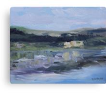 Cut Banks Stuart River Plein Air July 2013 Canvas Print