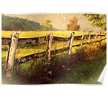 Old Fence rustic decor photography home decor Poster