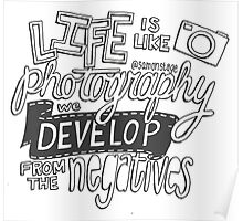 """Life is like Photography"" Quote Poster"