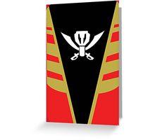 Gokaiger Suit – Gokai Red Greeting Card