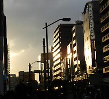Sunlight on Some Tokyo Buildings by DameioNaruto