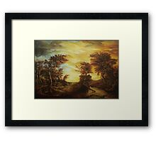 Dan Scurtu - Forest at Sunset Framed Print