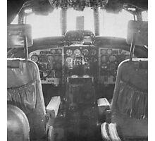 Vintage Plane Cockpit Photographic Print