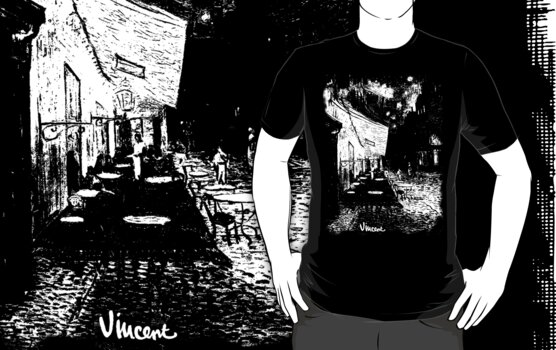Cafe Terrace at Night by Vincent van Gogh by StencilCrew