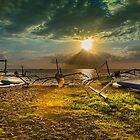 Indonesian Sailing Boats - Lovina Beach, Bali by DavoSp8