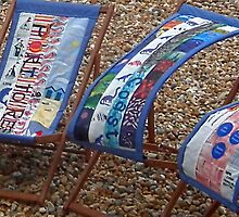 Fancy Deckchairs At Lyme Dorset. UK by lynn carter