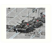 Tank Man of Tiananmen Art Print