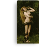 Lilith by John Collier Canvas Print