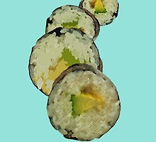 Hawaiian Sushi Stack by Gabriel Barahona