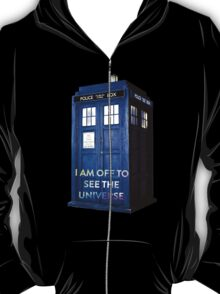 WARNING! Off to see the universe w/doctor T-Shirt
