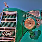 Green Mack Truck by pdsfotoart