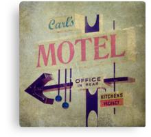 Carl's Motel Canvas Print