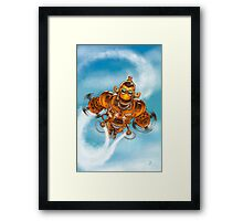 Happy Steampunk Robot Framed Print