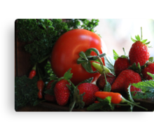 Fresh From Our Garden Canvas Print
