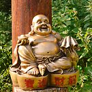 Laughing Golden Buddha by Jan Carlton