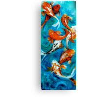 Koi Mirror Unframed Canvas Print