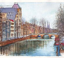 Amsterdam at Christmas time by Dai Wynn
