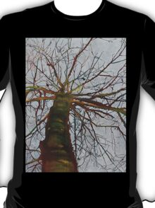 Knitting the Wind, mixed media on canvas T-Shirt