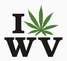 I Love West Virginia Marijuana Cannabis Weed T-Shirt by MarijuanaTshirt