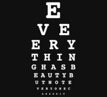 20/20 Vision or something else? -White lettering by nicolesoidesign