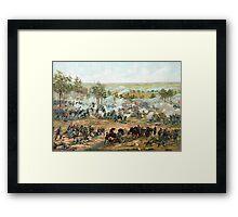 Battle Of Gettysburg -- American Civil War Framed Print