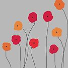 Red and Orange Poppies by VieiraGirl