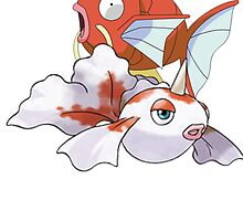 Goldeen and magikarp Fish pokemon by linwatchorn