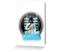 Space Buddha Returns!  Poster/Print Greeting Card