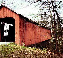 Covered Bridge rustic photograph landscape nature by jemvistaprint
