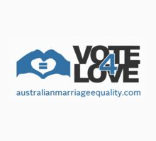 #Vote4Love (Logo) - Stickers by Australian Marriage Equality