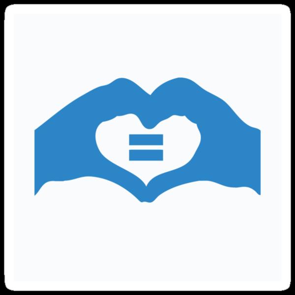 Australian Marriage Equality (Blue Logo) - Stickers by Australian Marriage Equality