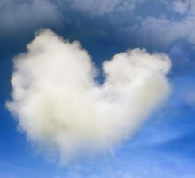 a natural heart shaped cloud by morrbyte