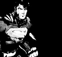 Superman 52 B&W watercolor by justin13art