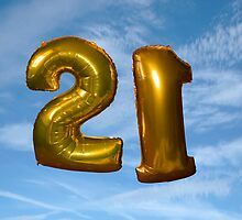 gold helium filled 21st birthday balloons by morrbyte