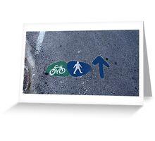 Walk and bike path Sign Greeting Card
