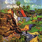 Houses in Auvers, fine art by Vincent van Gogh by naturematters