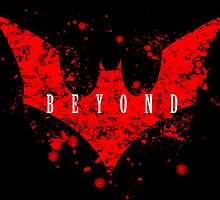 Terry McGinnis Beyond digital splatter logo by justin13art