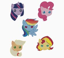 Equestria Girls-chibi heads by RainbowRunner