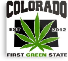 Colorado Marijuana Cannabis Weed T-Shirt Metal Print