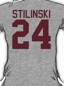 Stiles Stilinski's Jersey - maroon/red text T-Shirt
