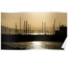 Naples, Italy Harbour Lights Poster
