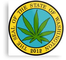 Washington Marijuana Cannabis Weed T-Shirt Metal Print