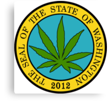 Washington Marijuana Cannabis Weed T-Shirt Canvas Print