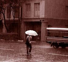 Sepia Rainy Day by jwwallace