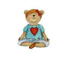 Live Love Yoga Bear (no background) Photographic Print