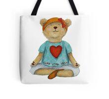 Live Love Yoga Bear (no background) Tote Bag