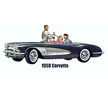 1958 Corvette Photographic Print