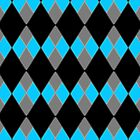 Blue, Gray, & Black Checkers by mputrus