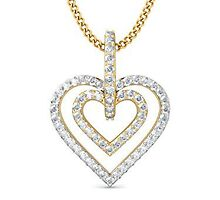 Heart Shaped Gold Pendant India Price	 by salim59