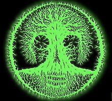 Skulltree, greenglow (romkaláh) by peter barreda